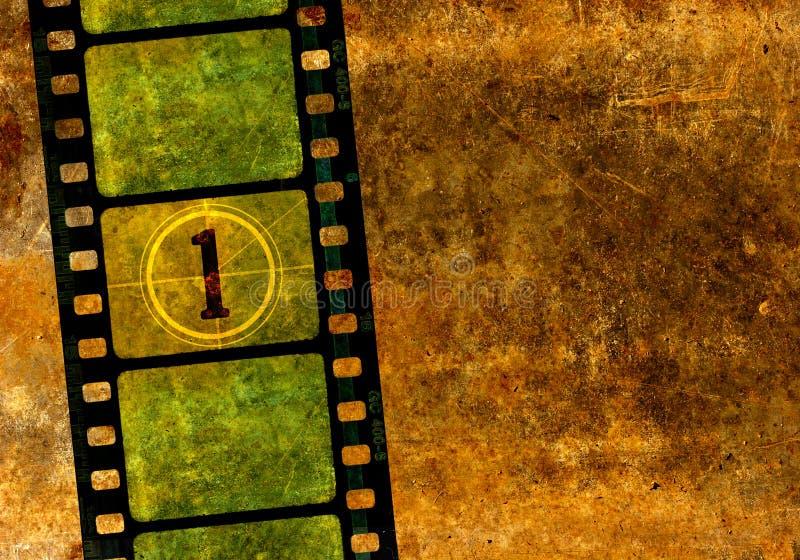 Cru bobine de film de film de 35 millimètres illustration de vecteur