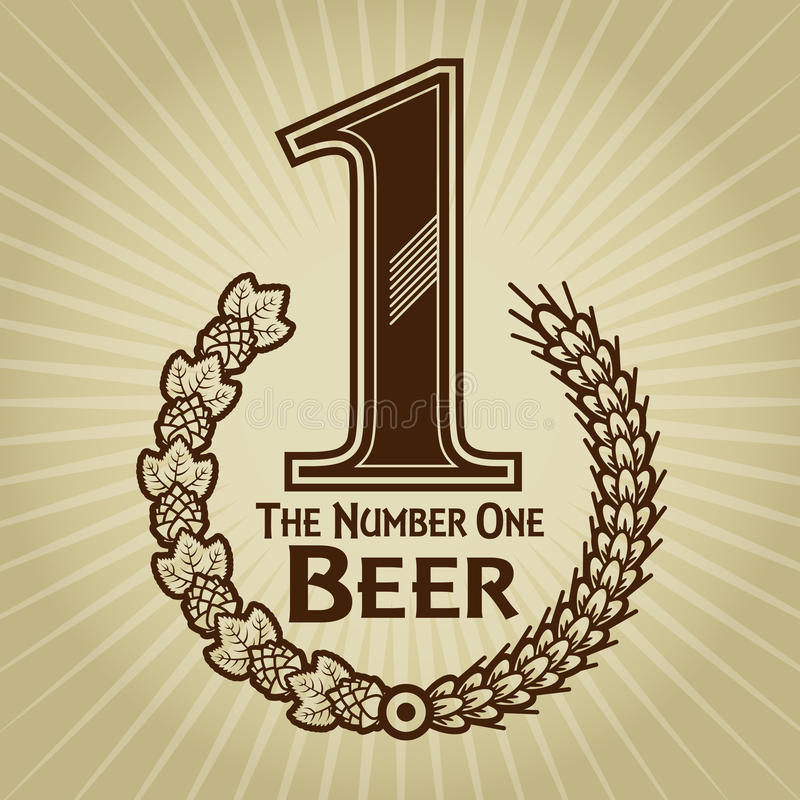 Le joint/marque de bière du numéro un illustration libre de droits