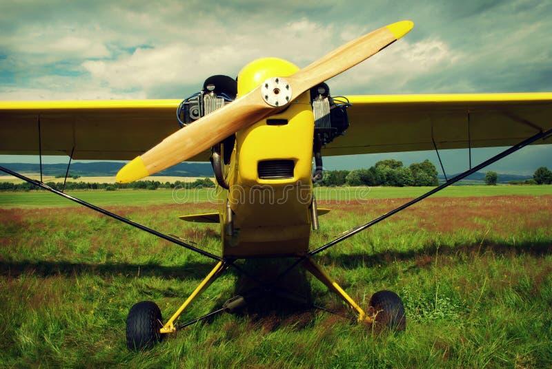 cru d'avion photographie stock