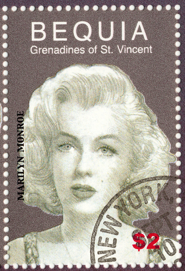 cru d'estampille de Monroe photo libre de droits