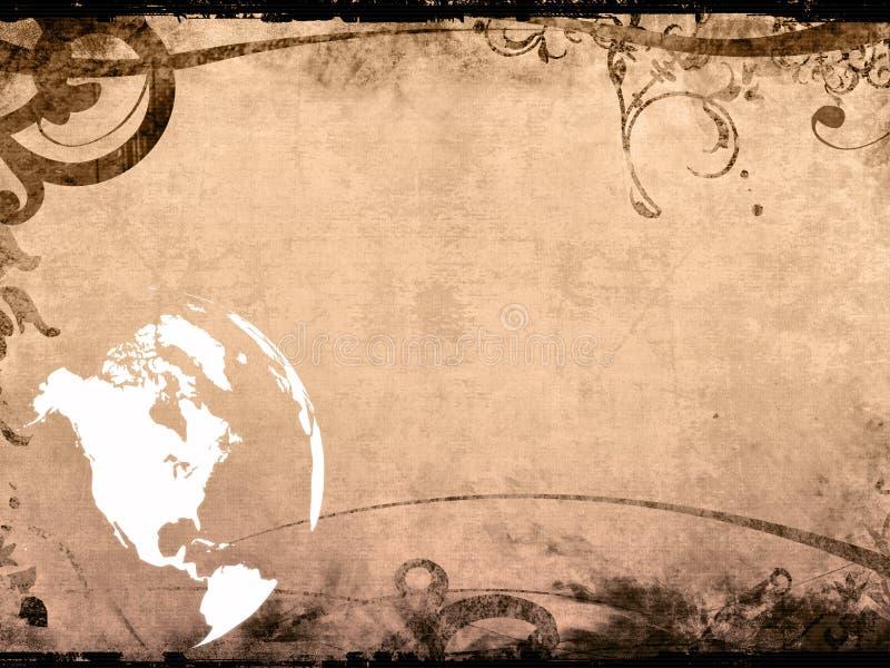 cru de carte de dessin-modèle de l'Amérique illustration de vecteur
