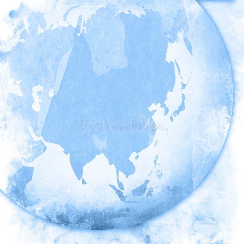 cru de carte de l'Asie de dessin-modèle illustration de vecteur