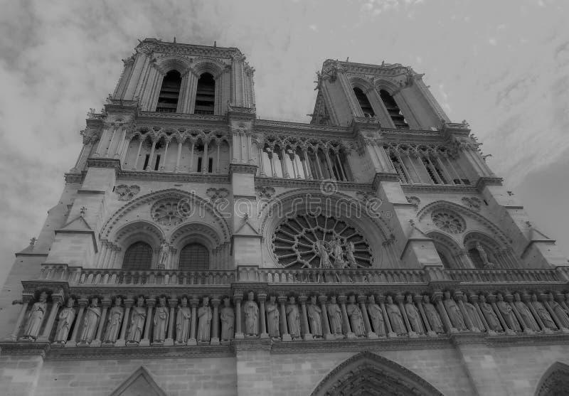 Cru de cathédrale de Notre Dame de Paris photos stock