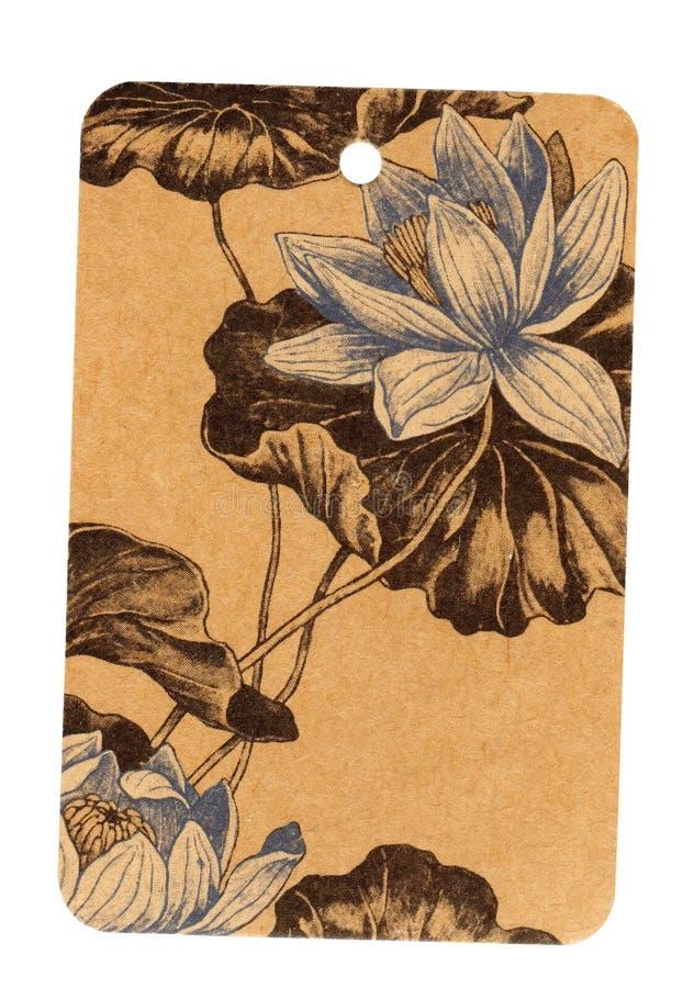 cru de configuration d'étiquette de glam de fleur image stock