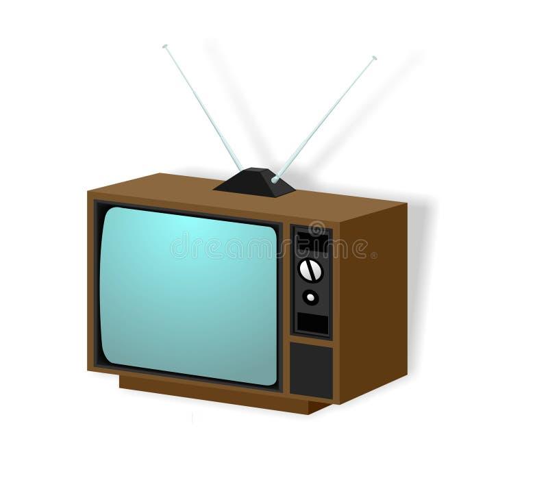 cru de l'illustration TV illustration libre de droits