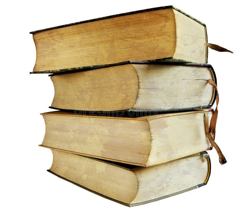 cru de pile de livres image stock