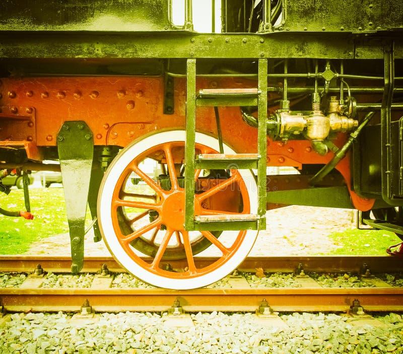 Cru de train de vapeur rétro images libres de droits