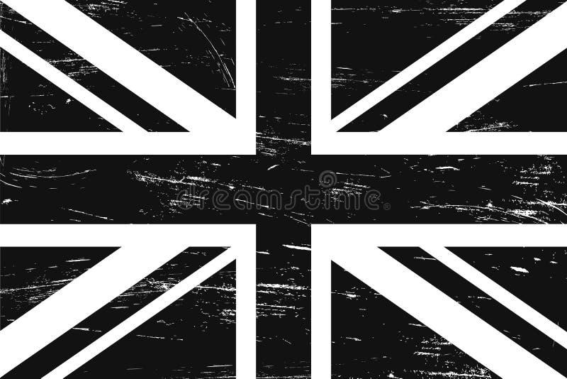 Cru drapeau grunge de Grande-Bretagne et de l'Irlande du Nord illustration libre de droits