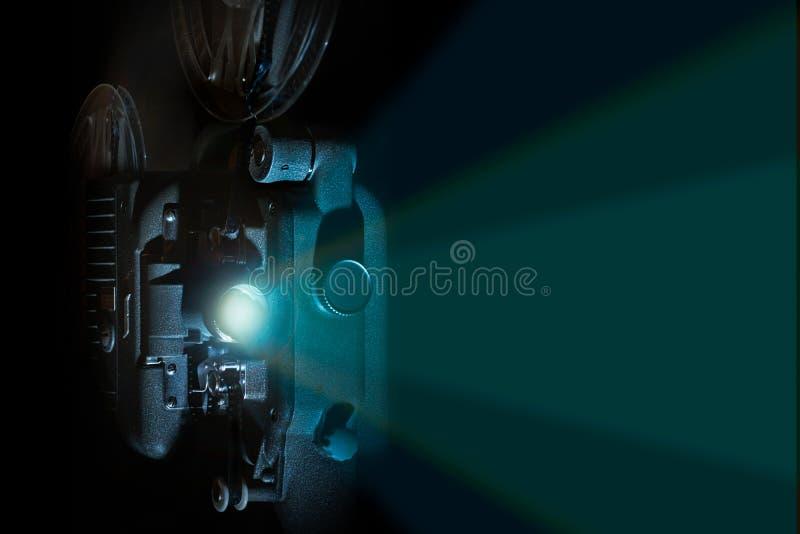 Cru faisceau de lumière de projecteur de film de 8 millimètres illustration stock