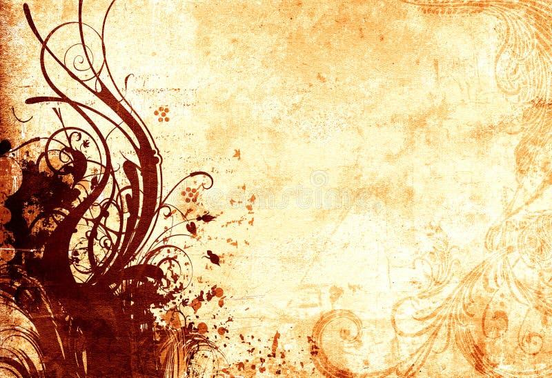 cru floral de conception illustration de vecteur