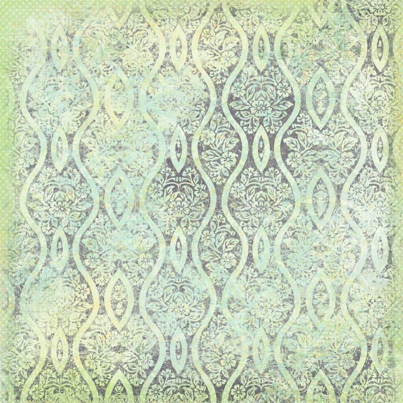 cru floral de thème de fond antique illustration de vecteur
