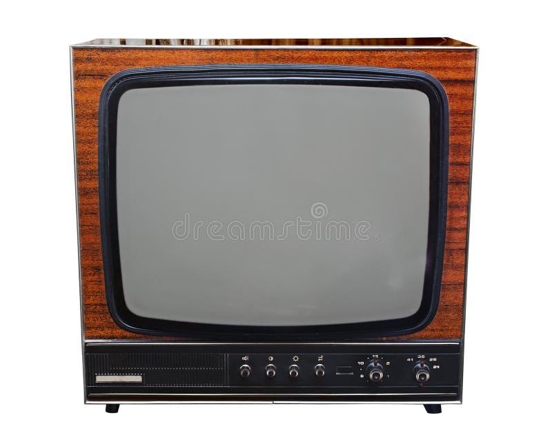 Cru TV noire et blanche analogique images libres de droits