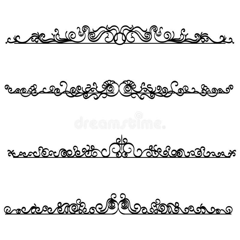 cru vecteur l ments calligraphiques de conception cadre bord de page illustration de vecteur. Black Bedroom Furniture Sets. Home Design Ideas