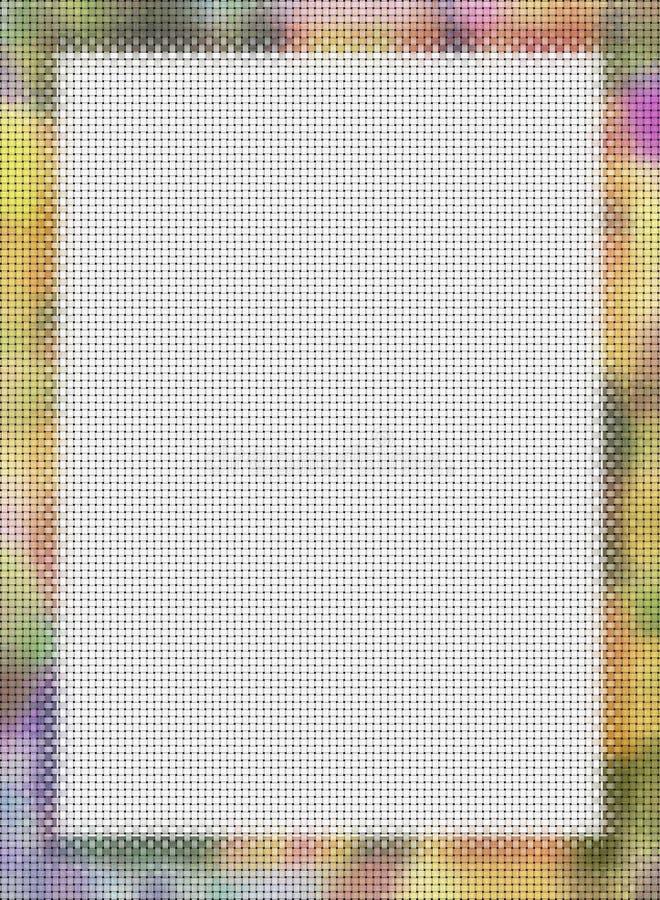 Cruce el marco de la foto de la puntada stock de ilustración