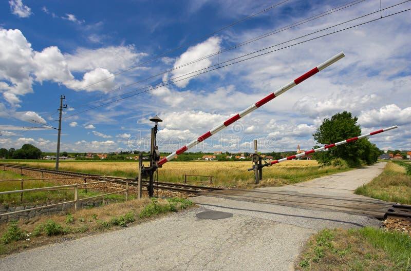 Cruce ferroviario fotos de archivo libres de regalías