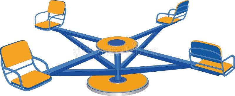 Cruce giratorio stock de ilustración