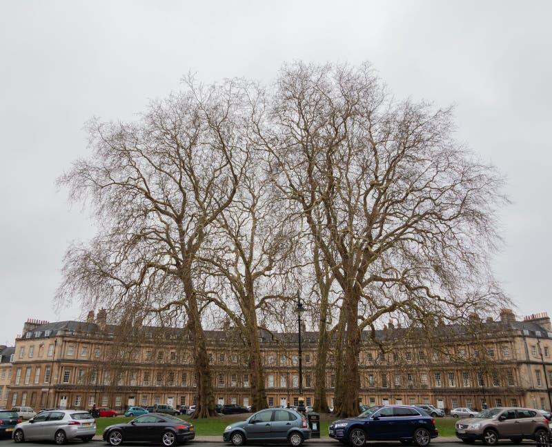 Cruce giratorio en baño la ciudad en Inglaterra imagen de archivo libre de regalías