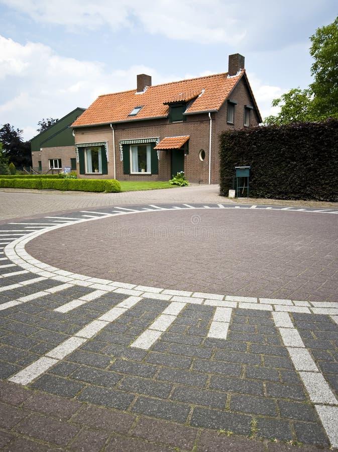 Cruce giratorio holandés foto de archivo