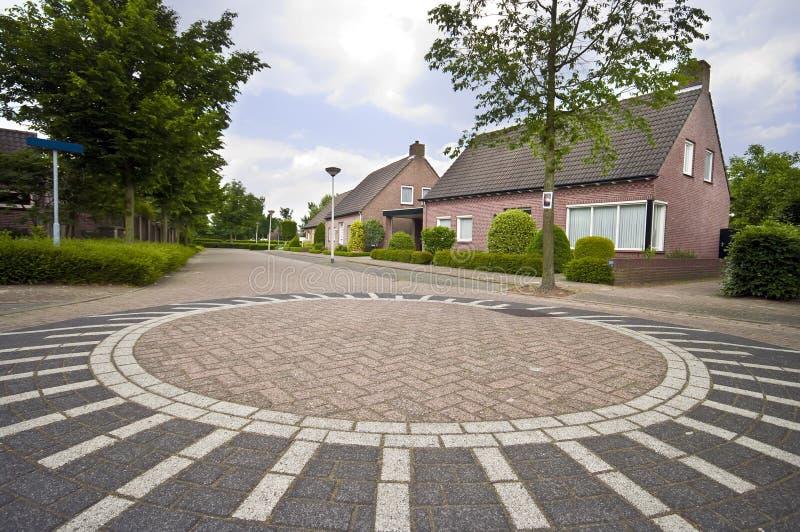 Cruce giratorio holandés fotografía de archivo libre de regalías