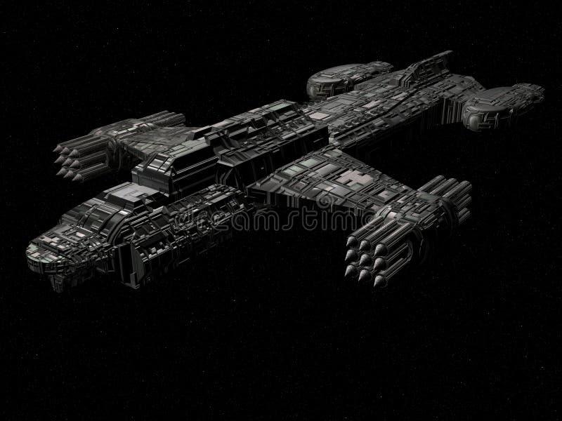 Crucero de batalla ilustración del vector