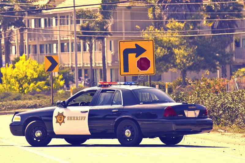 Crucero de la policía de California foto de archivo libre de regalías
