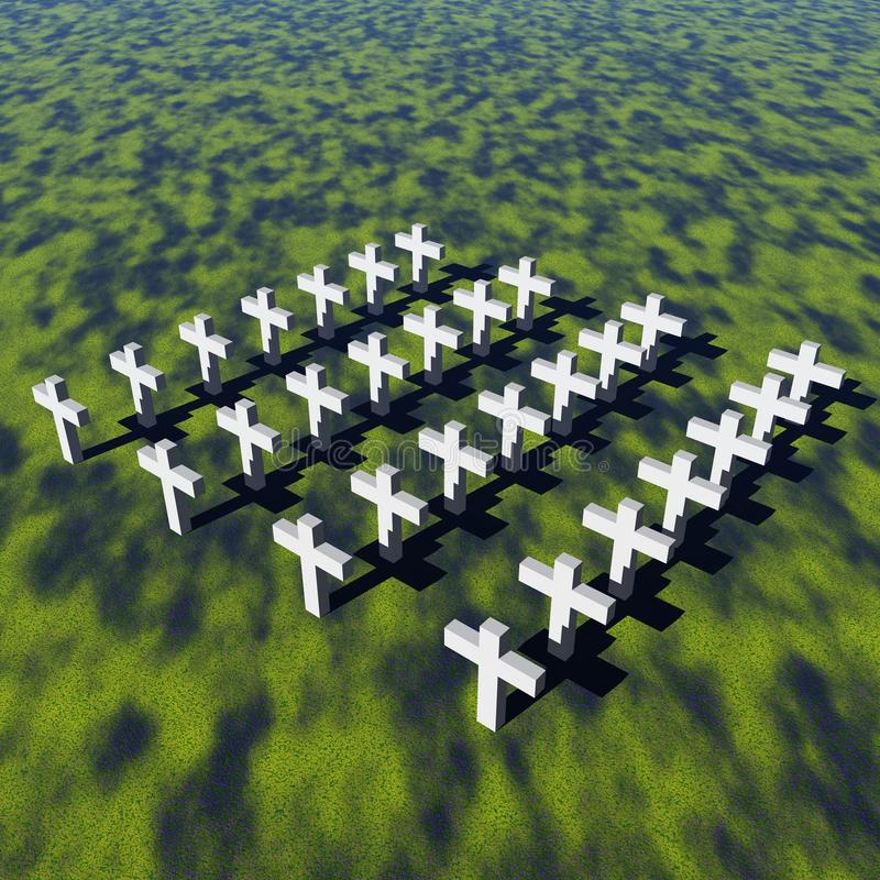 Cruces blancas ilustración del vector