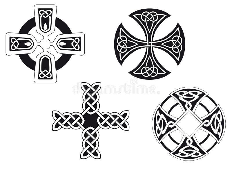Cruces célticas ilustración del vector