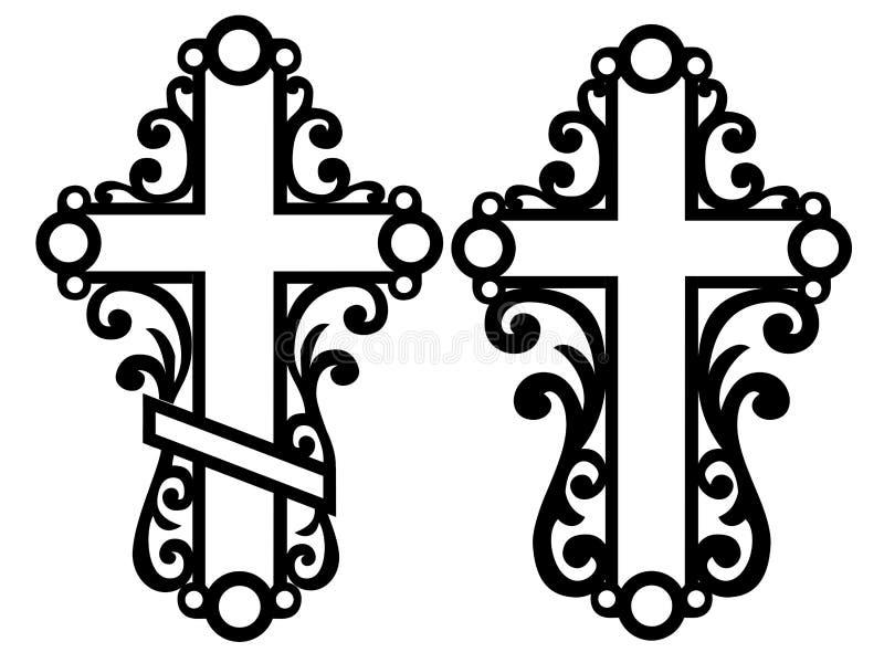 Cruces célticas decorativas stock de ilustración
