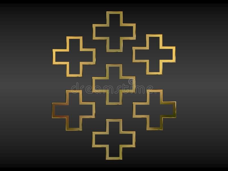 Cruces cristianas ilustración del vector