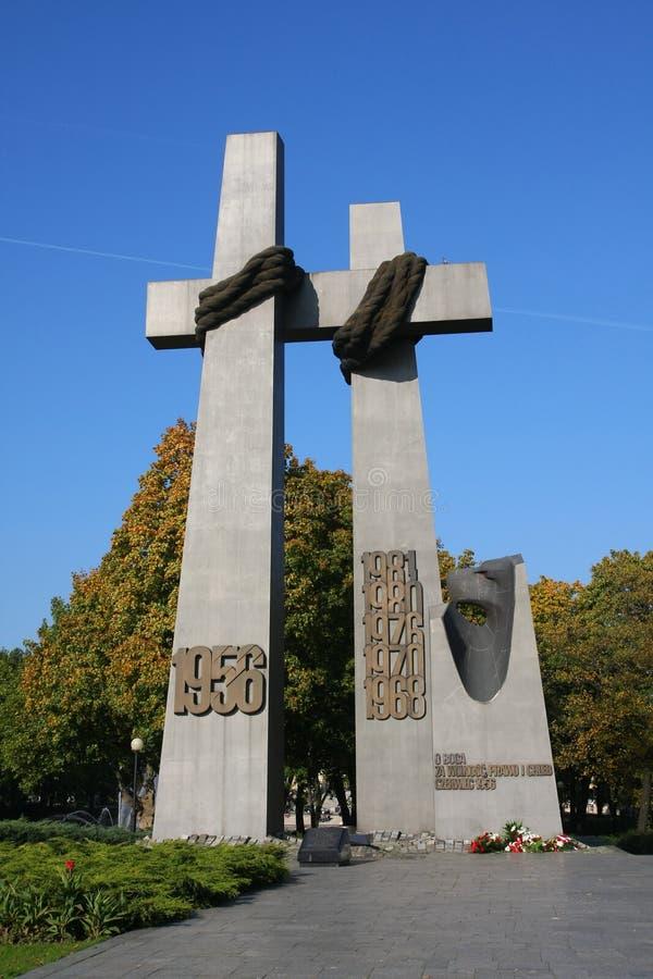 Cruces de la solidaridad imágenes de archivo libres de regalías