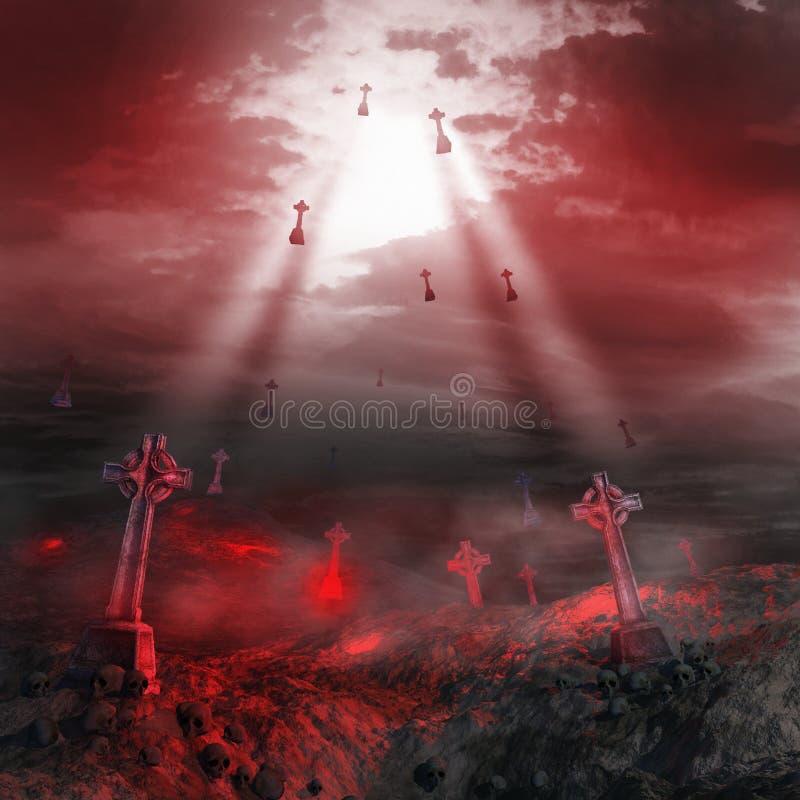 Cruces de piedra del vuelo libre illustration