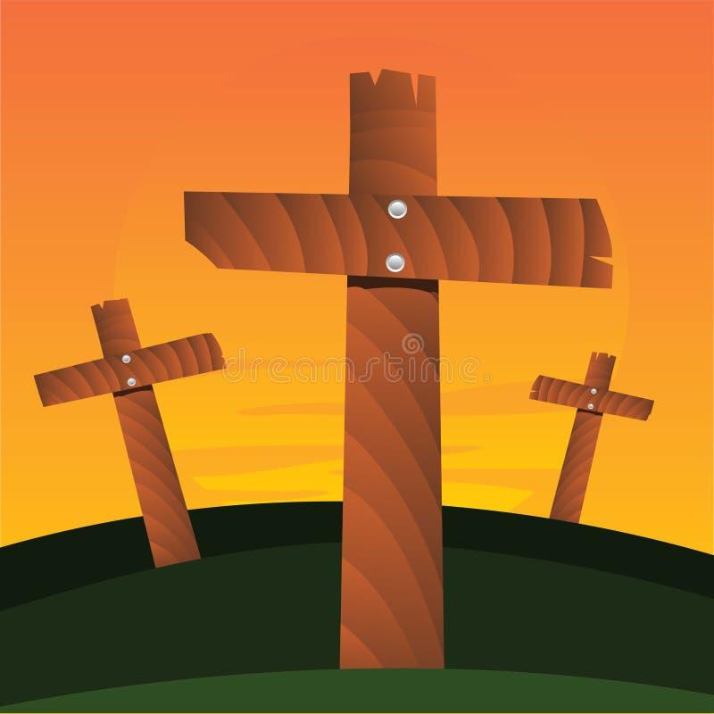 Cruces del vector ilustración del vector