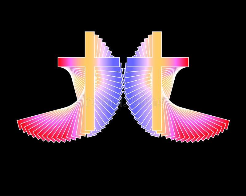 Cruces radiantees ilustración del vector