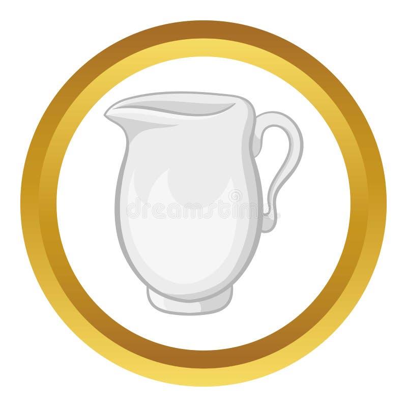 Cruche d'icône de vecteur de lait illustration de vecteur