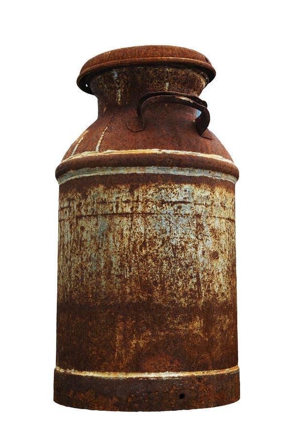 Cruche de lait antique rustique images libres de droits