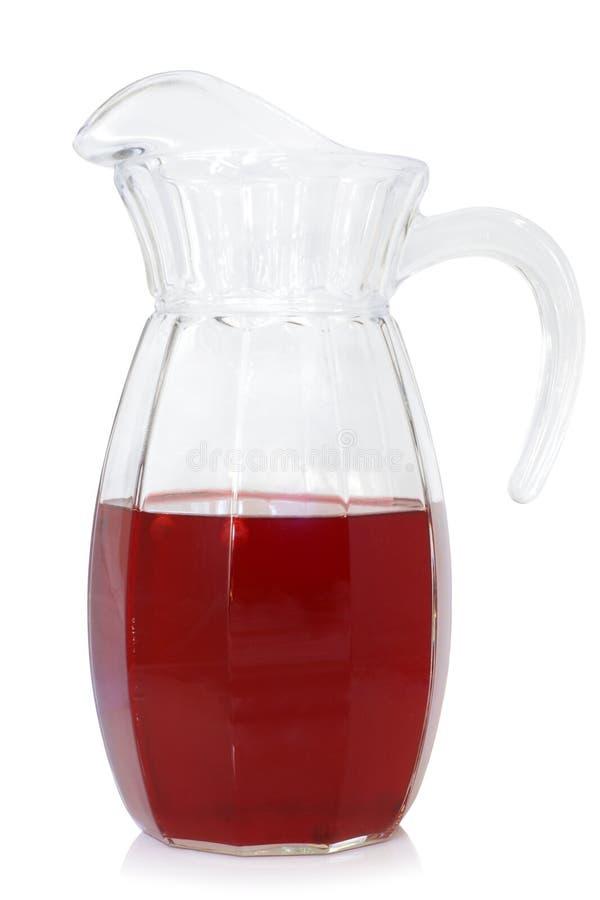 Cruche en verre de boisson de fruit photographie stock libre de droits