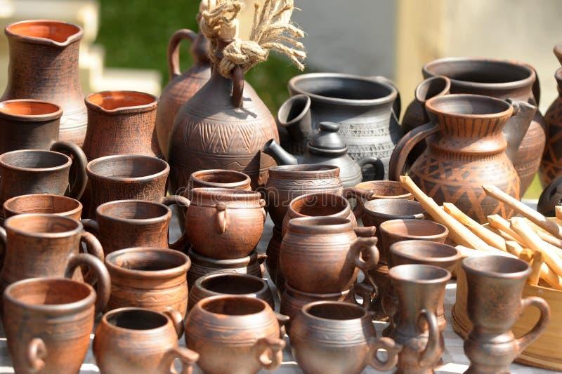 Cruches en céramique photos libres de droits