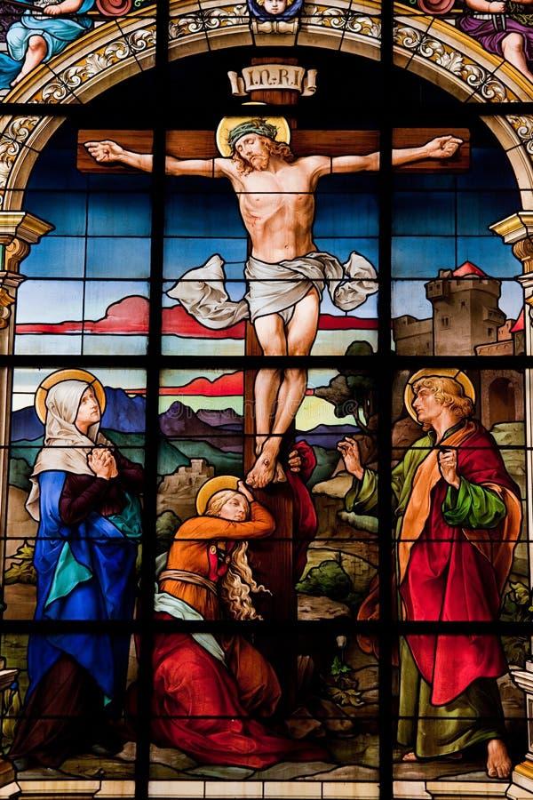 A crucificação, Éstocolmo foto de stock