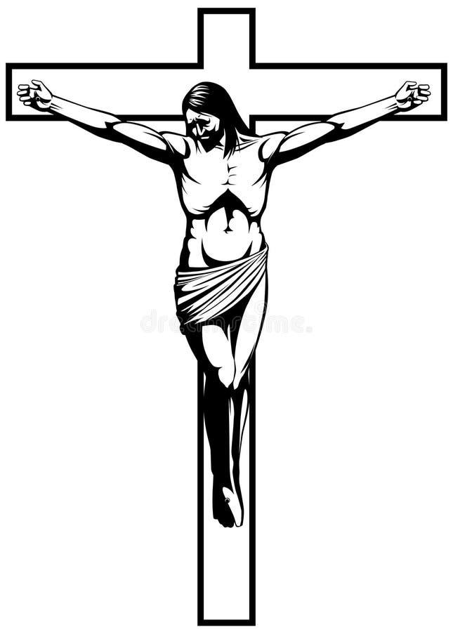 Crucificação ilustração do vetor