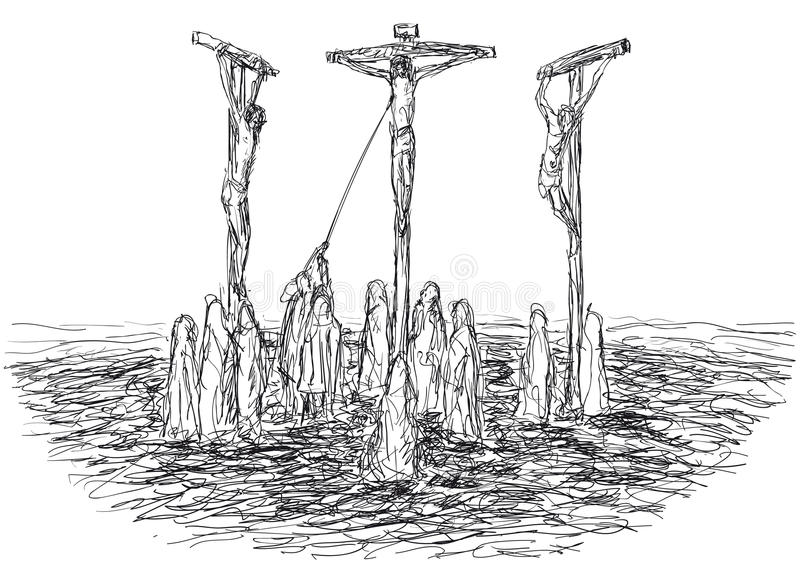 Crucificação ilustração stock