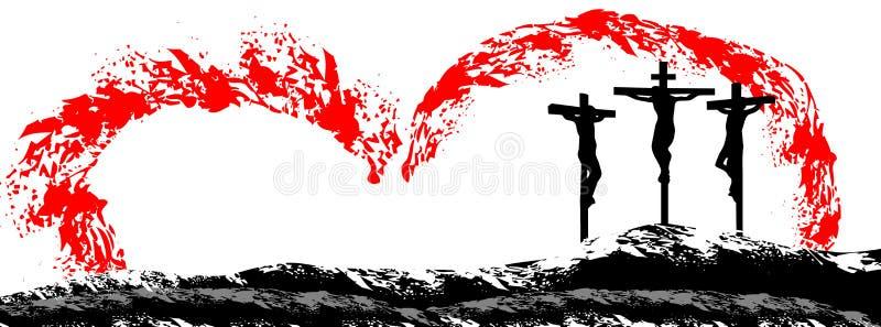 Crucificação de chris ilustração royalty free