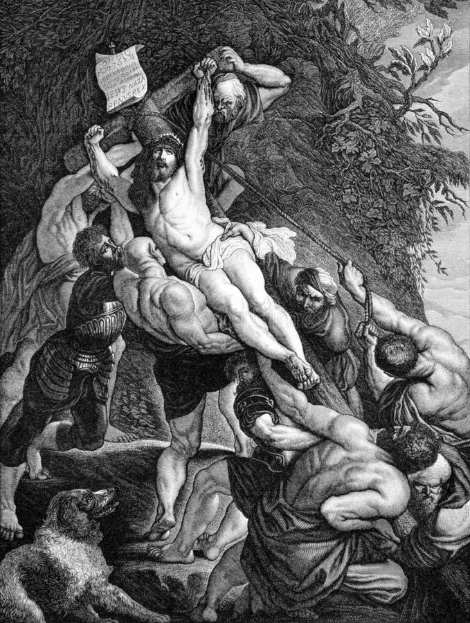 A crucificação de Jesus imagens de stock