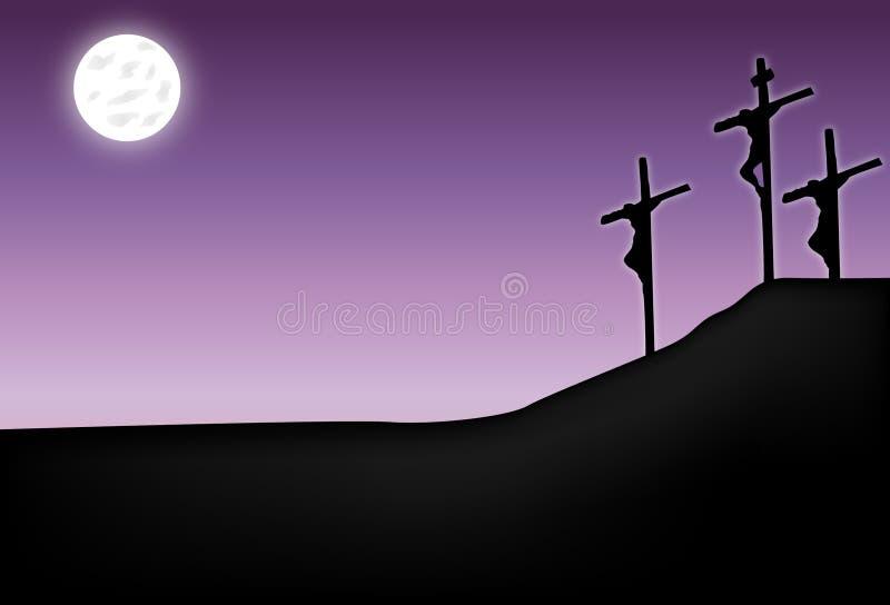 Crucificação do Jesus Cristo ilustração royalty free
