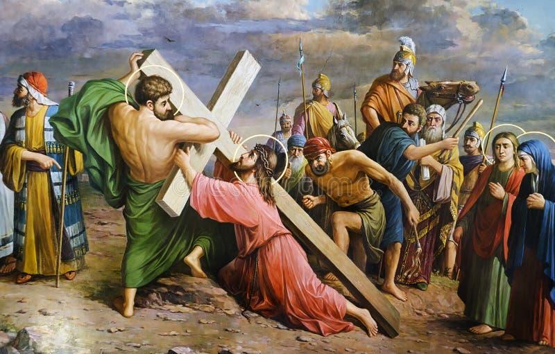 Crucificação do Jesus Cristo fotografia de stock