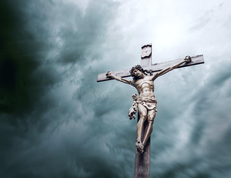Crucificação do Jesus Cristo foto de stock royalty free