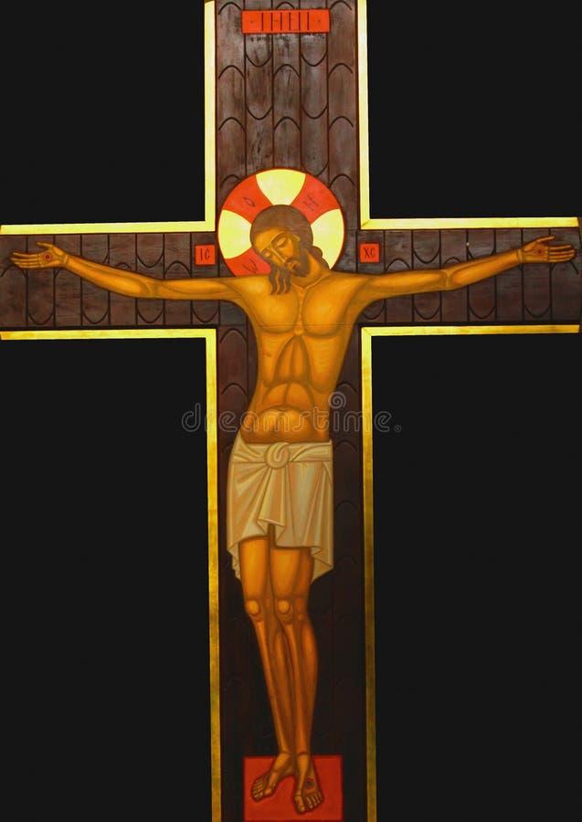 A crucificação do Jesus Cristo fotografia de stock royalty free