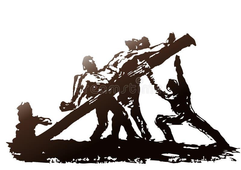 Crucificação (vetor) ilustração do vetor