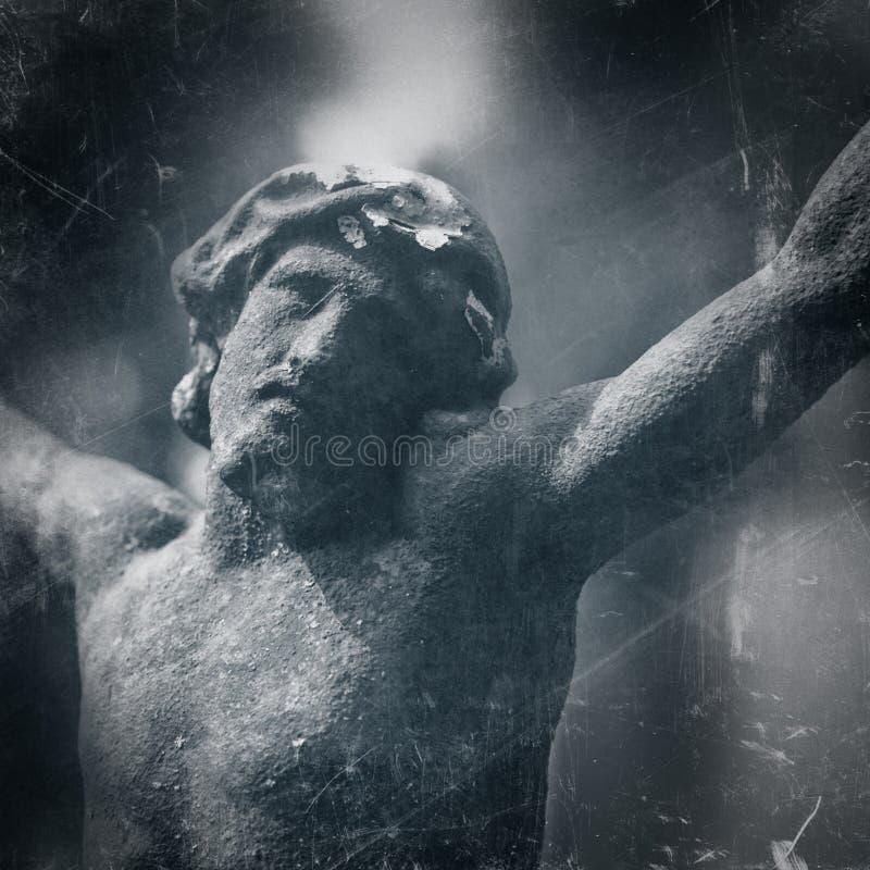 Crucifica??o de Jesus Christ como um s?mbolo do amor do ` s do deus Vintage s fotos de stock