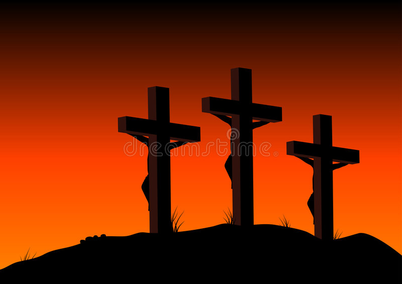 Download Crucified stock vector. Image of christianity, illustration - 4351221