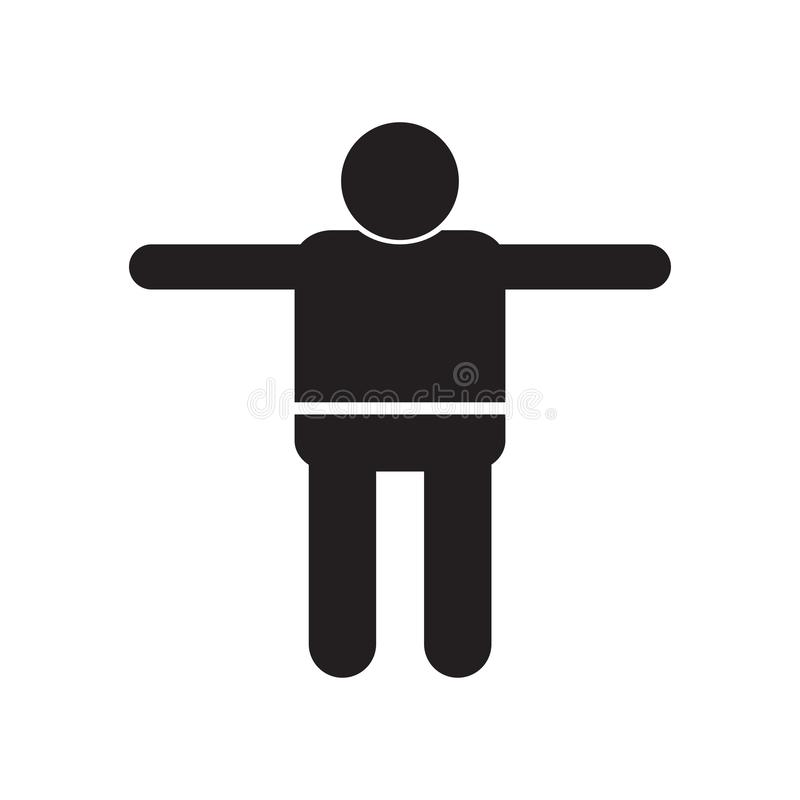 Crucified Pose icon vector sign and symbol isolated on white background, Crucified Pose logo concept royalty free illustration